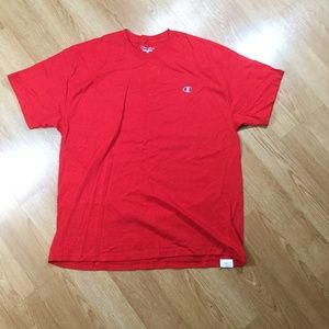 Red champion short-sleeve tee size XL